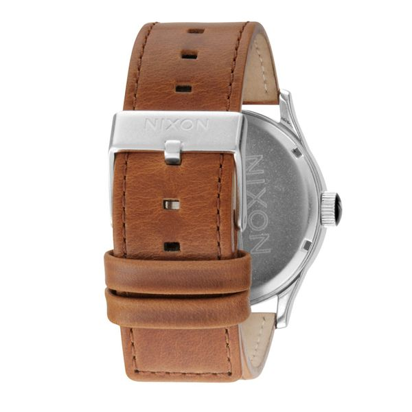 Nixon Herren Uhr Sentry Leather  - Black / Saddle 2
