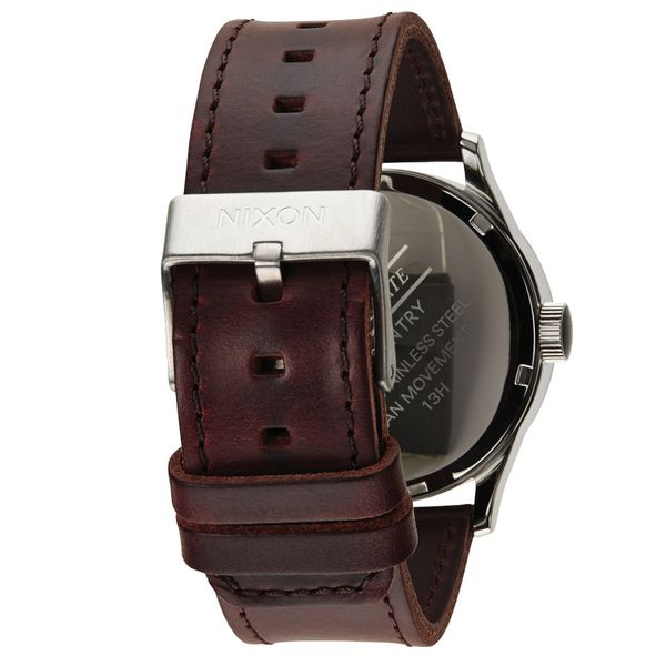 Nixon Herren Uhr Sentry Leather - Blue / Brown  2