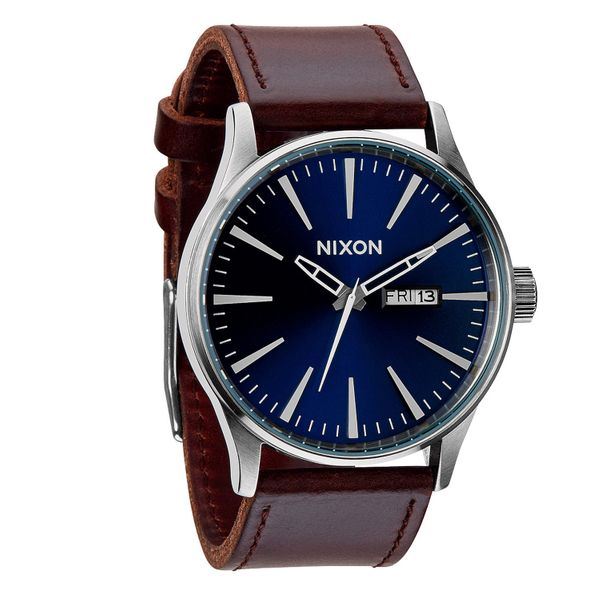 Nixon Herren Uhr Sentry Leather - Blue / Brown  1