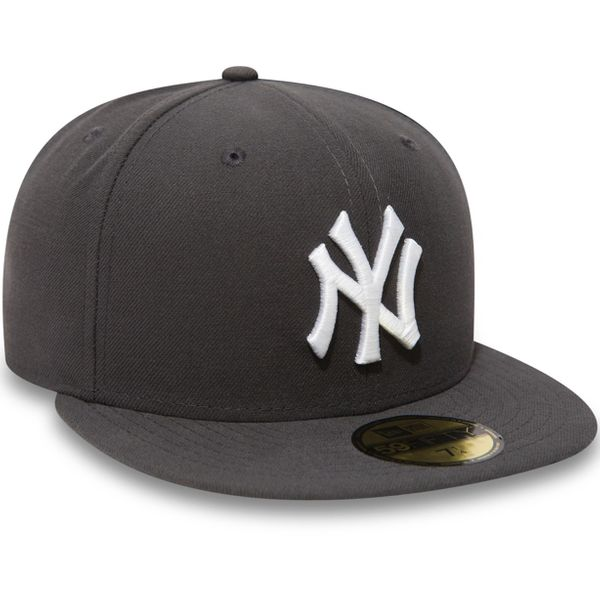 New Era Herren MLB BASIC NY YANKEES Caps  Graphite/White Logo  10010761  2