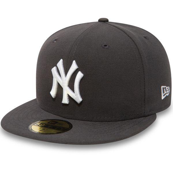 New Era Herren MLB BASIC NY YANKEES Caps  Graphite/White Logo  10010761  1
