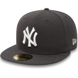New Era Herren MLB BASIC NY YANKEES Caps  Graphite/White Logo  10010761  1