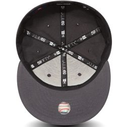 New Era Herren MLB BASIC NY YANKEES Caps  Graphite/White Logo  10010761  4