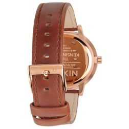 Nixon Damen Uhr Kensington Leather - Rose Gold / White  2