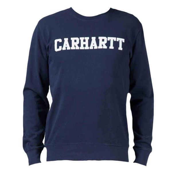 Carhartt WIP Herren College Sweat Crews  Jupiter/White  I015171