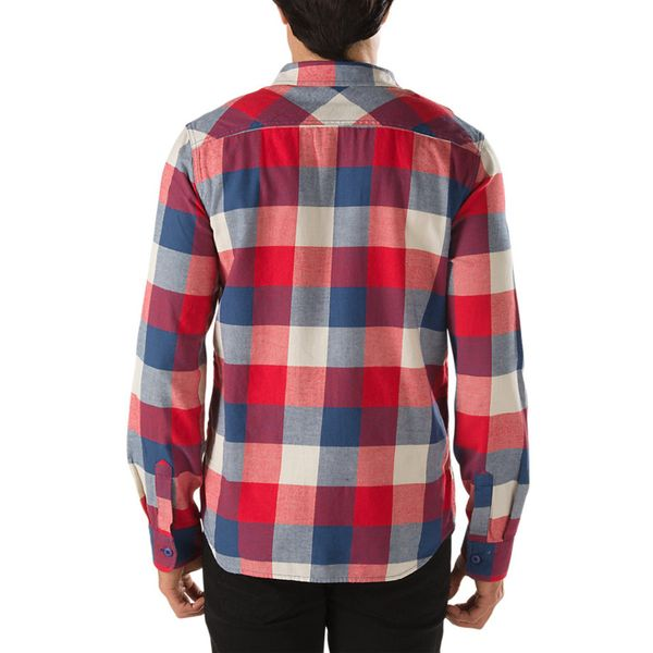 Vans Herren Hemd Box Flannel  - Ensign Blue/ Reinvent Red 2