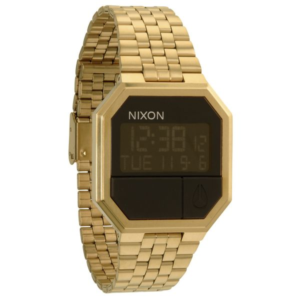 Nixon Herren Uhr Re-Run - All Gold  1