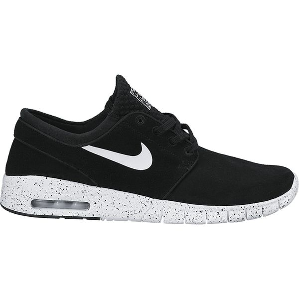 Nike SB Herren Sneaker Stefan Janoski Max Leather - BLACK/WHITE  1