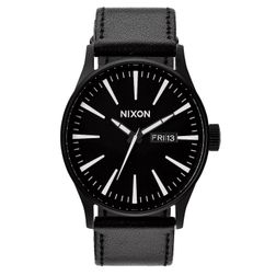 Nixon Herren Uhr Sentry Leather  1