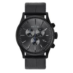 Nixon Herren Uhr Sentry Chrono Leather - Black Gator  1