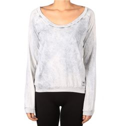 Iriedaily Damen T-Shirt Vintage Fair LS - light grey w.  1