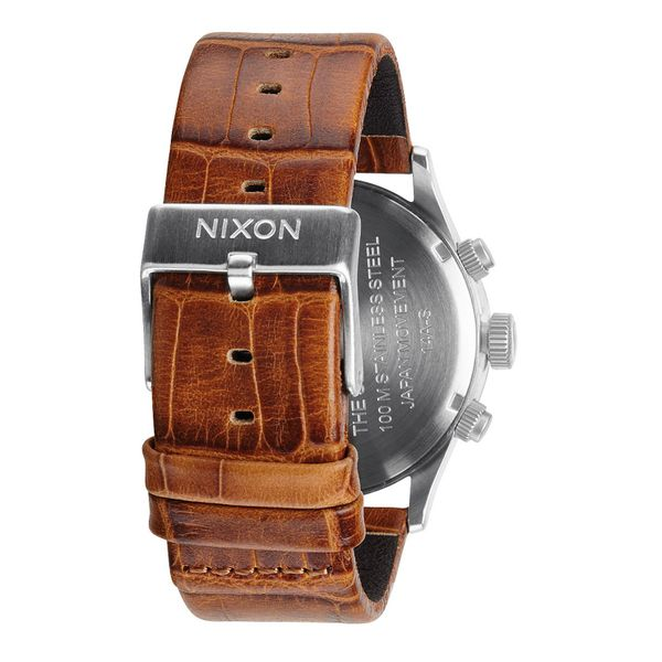 Nixon Herren Uhr Sentry Chrono Leather - Saddle Gator  2