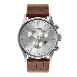 Nixon Herren Uhr Sentry Chrono Leather - Saddle Gator  1