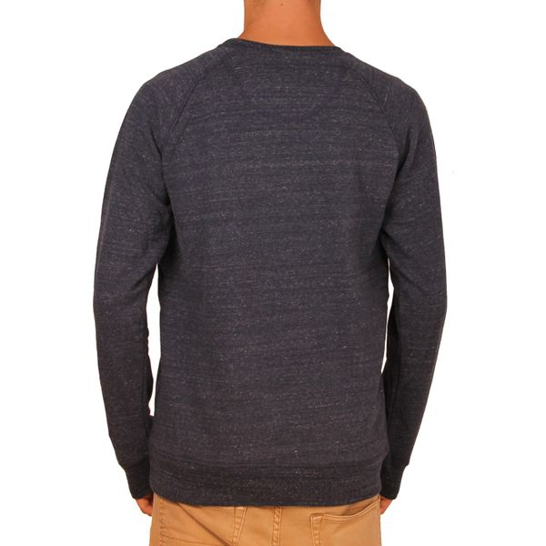 Epoxy Herrer Logo Crew Sweatshirt  - Dark Heather Blue 2