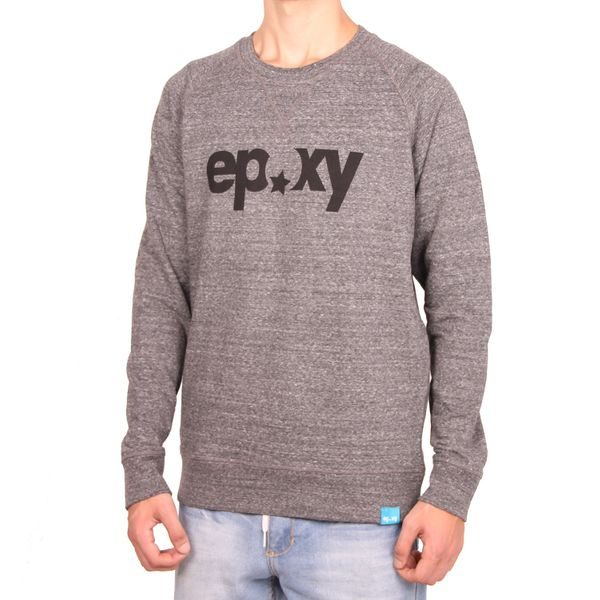 Epoxy Herren Logo Crew Sweatshirt  - Dark Heather Grey 1
