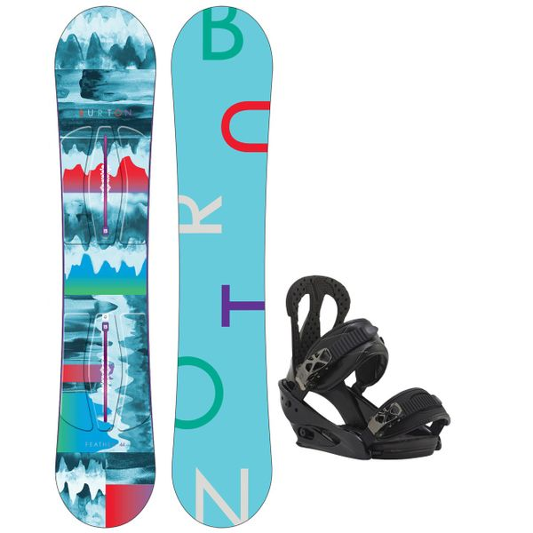 Burton Damen Snowboard FEATHER inkl. Bindung Burton Citizen, Länge 144cm, Modell 2016