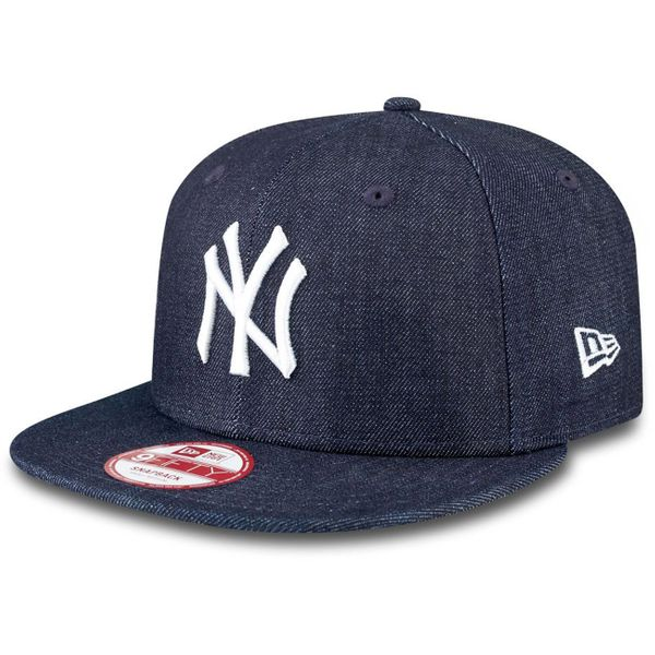 New Era Herren Cap DENIM BASIC 9FIFTY NY - NAVY/WHITE  1