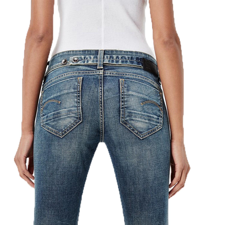 quality design 069d0 983c8 G-Star Damen Jeans Midge Saddle Mid Straight - medium aged