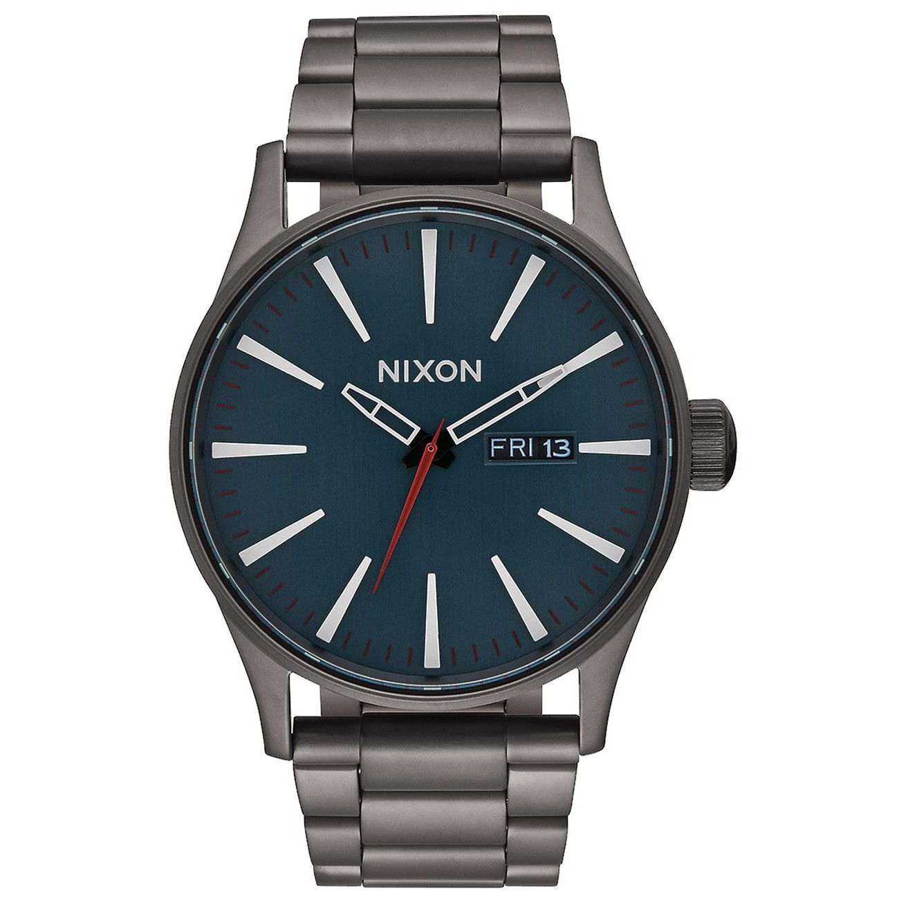 nixon herren uhr sentry ss all gunmetal dark blue. Black Bedroom Furniture Sets. Home Design Ideas