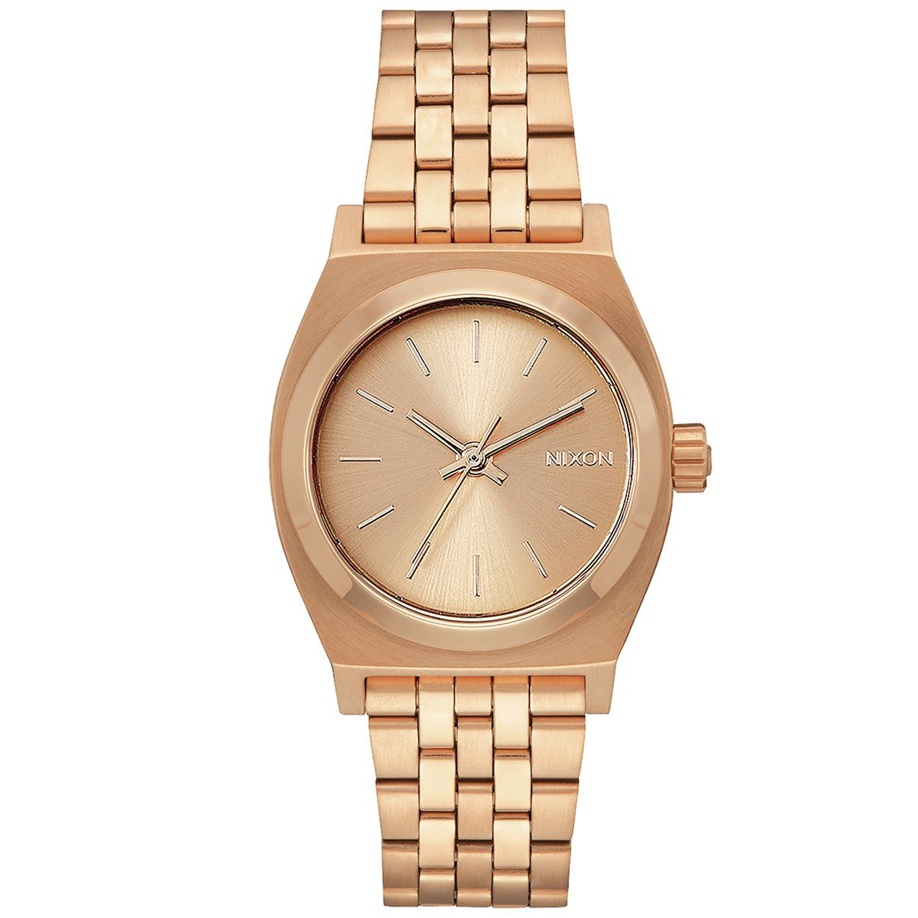 nixon damen uhr medium time teller all rose gold