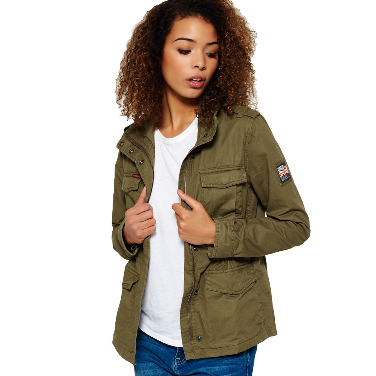 superdry damen jacke classic rookie military jacket. Black Bedroom Furniture Sets. Home Design Ideas