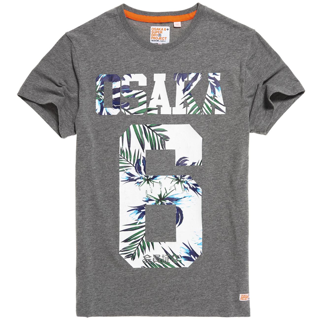 superdry herren t shirt osaka hibiscus tee dark marl ebay
