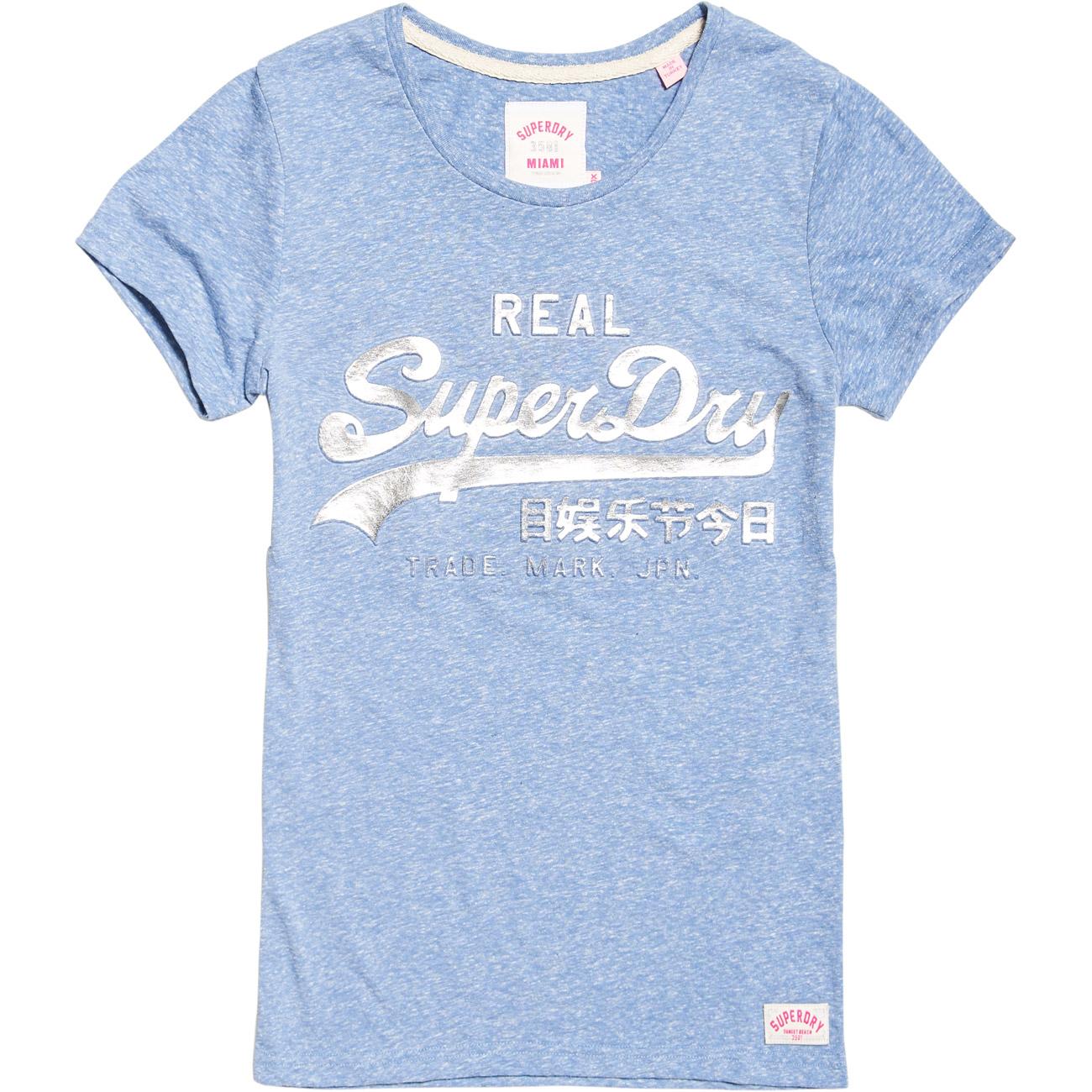 superdry damen t shirt vintage logo embossed foil tee. Black Bedroom Furniture Sets. Home Design Ideas