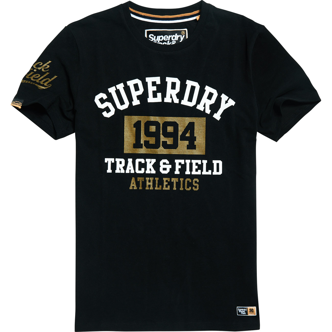 Superdry Herren Kastenförmiges 1994 Metallic T-Shirt