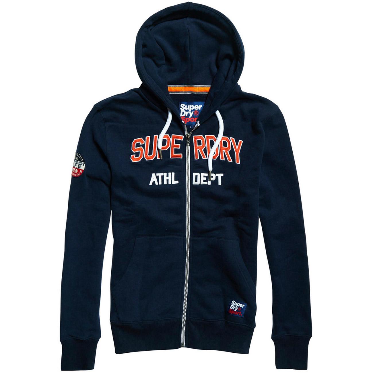 premium selection 2e7b5 17019 Superdry Herren Akademie Sport Applique Pullover Hoodie, Blau