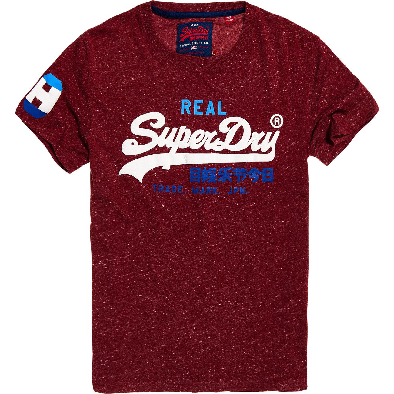 superdry herren t shirt vintage logo tri tee. Black Bedroom Furniture Sets. Home Design Ideas