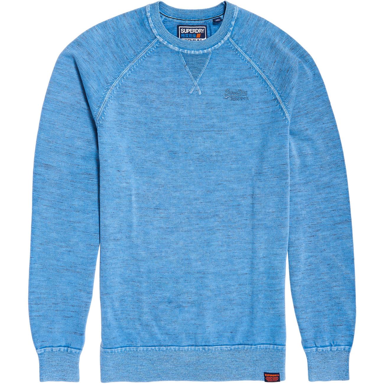 Details zu Superdry Herren Sweatshirt GARMENT DYED L.A. CREW
