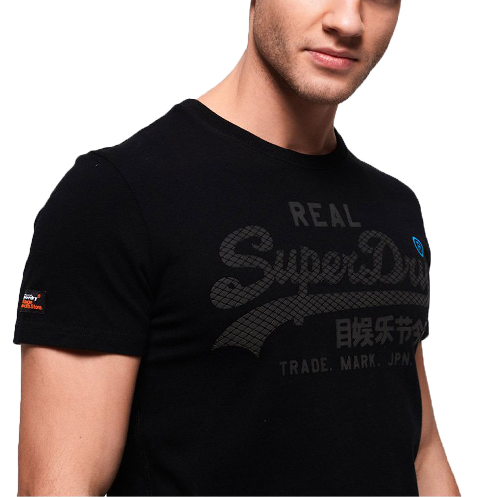 superdry herren t shirt vintage logo monochrome tee ebay. Black Bedroom Furniture Sets. Home Design Ideas