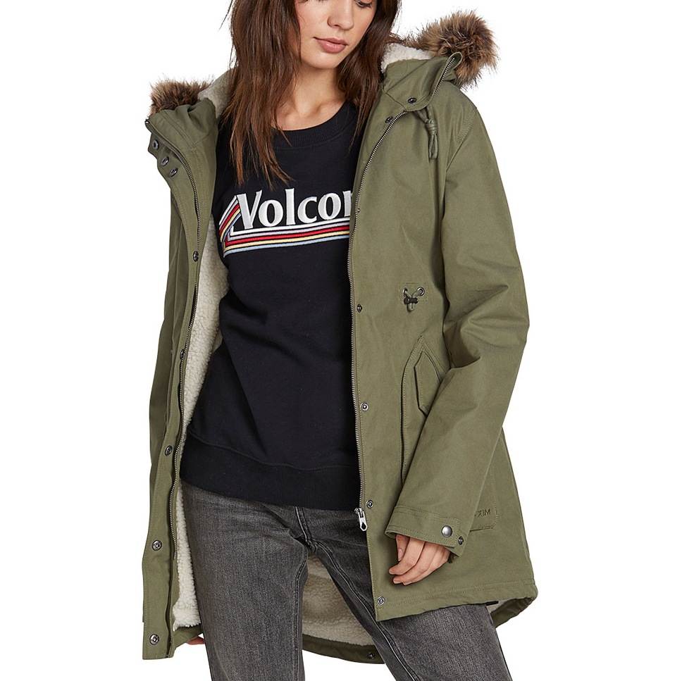 Less Volcom Is Damen More Jacke 5k Park DH9IWE2Y